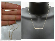 New 14k Gold filled BAR pendant necklace