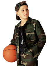 Kids Boys Woodland Forest Camo Military Style BDU Airsoft Shirt Fatigues
