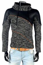 Rerock Pull-Over Meliert Mailles Fines Col Châle Hiver Pull-Over Rr922