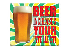 NEW Party Quality T-SHIRT Funny BEER INCREASES INTELLECT! All Sizes & Colours