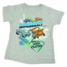 Official Disney Cars Movie Special Agent Mater Grey Toddler Kids Tshirt Tee