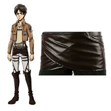 Cos Cosplay Attack on Titan Shingeki no Kyojin Leather Skirt Hookshot Costume T8
