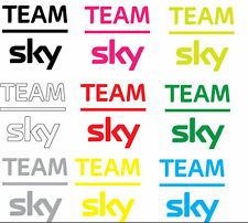 Team Sky 2014 Pro Cycling Vinyl Decal, Any Size, Any Color (Vertical)