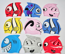 AB Cartoon Fish Style Pure Silicone Swimming Ear Cap Swim Hat For Children CA 3