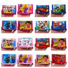 Cars,Snow white,McQueen,Tomas,Kitty,Dora,Spider Man ETC.. Wallets(47 colours)
