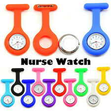 Large Number Nurse Pocket Watch with Brooch Pin Doctor Watches Silicone Band