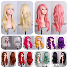 12 Colors Fashion Womens Long Curly Wavy Hair Synthetic Anime Cosplay Full Wigs