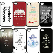 1x Fall Out Boy Classic Words Plastic Case Cover For Apple IOS iPhone 5 5G / 5S