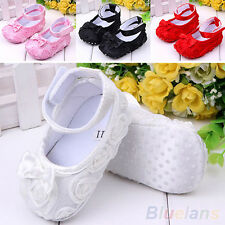 BABY NEWBORN INFANT TODDLER BOWKNOT SOFT PREWALKER CRIB SHOES VELCRO MARY JANE