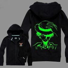 One Piece Luffy Spring and autumn Noctilucence Fluorescence Sweats Hoodies Coat