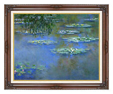 Framed Water Lilies by Claude Monet Picture Painting Reproduction Fine Art Print