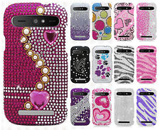 Boost Mobile ZTE Warp Sync N9515 Crystal Diamond BLING Hard Case Cover