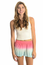 NWT Gypsy 05 Silk Athena Perfect Ombre Shorts BUBBLE GUM Pink ST BART Blue