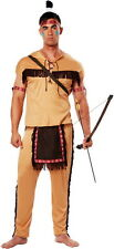 Native American Brave Indian Tribal Hunter Halloween Costume Outfit Adult Men