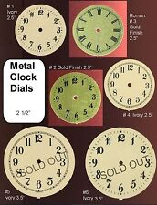 Ivory & Gold Finish Clock Dial Face Parts Steampunk Art Supplies