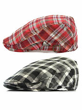 Vintage Unisex Men Women Classic Check Plaid Newsboy  Cabbie Golf Beret Cap Hat