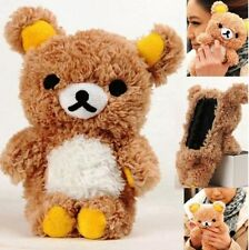 Cute 3D Lovely Teddy Bear Doll Toy Cool Plush Case Cover For Apple Iphone ipod