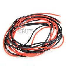 2x 3M 14/16/18/20/22/24/26 Gauge AWG Silicone Rubber Wire Cable Red Black