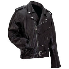 Big Men's Genuine Leather Jacket/Coat (Size  S,M,L,XL,2X,3X,4X,5X,6X,7X)