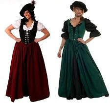 RENAISSANCE MEDIEVAL COSTUME GOWN SCOTTISH CELTIC IRISH SKIRT BODICE OVER DRESS
