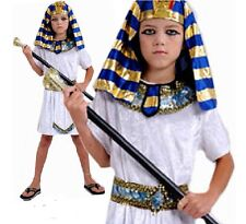Child Ages 4-12 Years PHARAOH Egyptian King Prince Fancy Dress Costume All Sizes