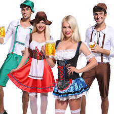 German Bavarian Oktoberfest Beer Festival Fancy Dree Group Party Couples Costume