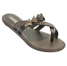 Grendha Sandals Glam Brown Black Bronze Womens Flip Flop / Sandal