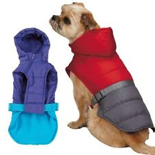 TREK PUFFY JACKET Warm All Weather Coat for ACTIVE Dog, Vest w Removable Hood