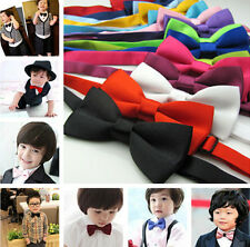 Pretty korean Boys bow tie children kids toddler wedding silk satin bowtie JT65