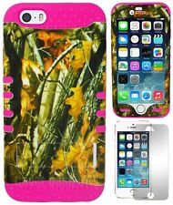 Pink Oak Tree Branch Camo Rugged Hybrid Hard Case Cover for iPhone 6 - 4.7 inch