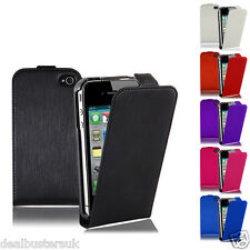 NEW ULTRA SLIM LUXURY LEATHER FLIP CASE COVER FOR APPLE IPHONE 5 5S + FREE SP