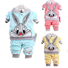 NEW baby outerwear + long Pants set suit boys girls clothing rabbit YF101