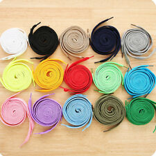 30 Colours Flat Coloured Shoe Laces Shoelaces Boot Trainer Shoes New White Black