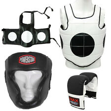 MAXSTRENGTH Boxing Punch Chest Protector MMA Head Guard Training Bag Gloves
