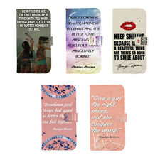 New Marilyn Monroe Quotes Wallet Flip PU Leather Case for Samsung GalaxyS3 S4 S5