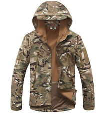 2014 New Mens Camouflage Military Fleece Linning Hooded Coat Army Jacket Outwear