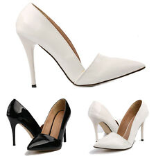 New Style Sexy Women High Heels Pointed Fashion Work Pumps Court Shoes Size 4-11