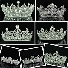 Multi Design Excellent Swarovski Crystal Flower Tiara Crown Pageant Prom Bridal