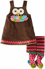 Mud Pie Girls Owl Fall Outfit Sizes 0-6  6-9 12-18 Months 2T 4T  5T
