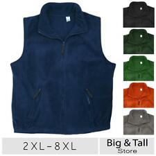 Big Men's Full Zip Fleece Vest 2XL 3XL 4XL 5XL 6XL 7XL 8XL