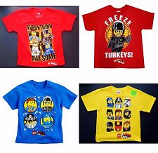 LEGO MOVIE & NINJAGO Comfort Tees T-Shirt NEW Boys Sz. 4/5, 6/7, 8 or 10/12  $18