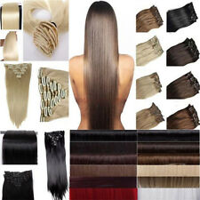 "19""24""26"" Long thick 145g clip in clip in on hair Extensions Full Head 8Pcs hgs"