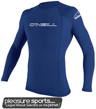 O'Neill Basic Skins Long Sleeve Men's Rashguard-Blue
