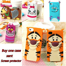 3D Cute Cartoon Tiger Silicone Rubber Case Cover For iPhone 6 6 Plus 5 5s 4 4s