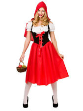 Ladies Red Riding  Fancy Dress Costume Fairytale Storybook Nursery Rhyme Outfit