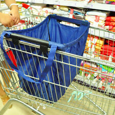 Reusable Durable Eco Bag Shopping Cart tote-hooks on cart- use handles to carry.