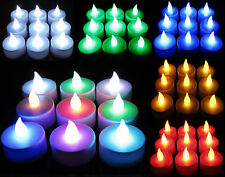 2 Pcs Battery Operated Flickering LED Tealights Tea Lights Flameless an615