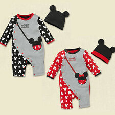 Mickey Minnie Mouse Baby Girl Long Sleeve Outfits Cotton Jumpsuit Climbing 3-12M