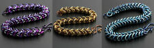 BOX CHAIN BRACELET KIT-Chain Maille/Mail Jump Ring Jewelry Making Craft-Color