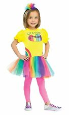 Color Me Cutie Crayon Box Tutu Skirt Cute Child Girls Toddler Halloween Costume